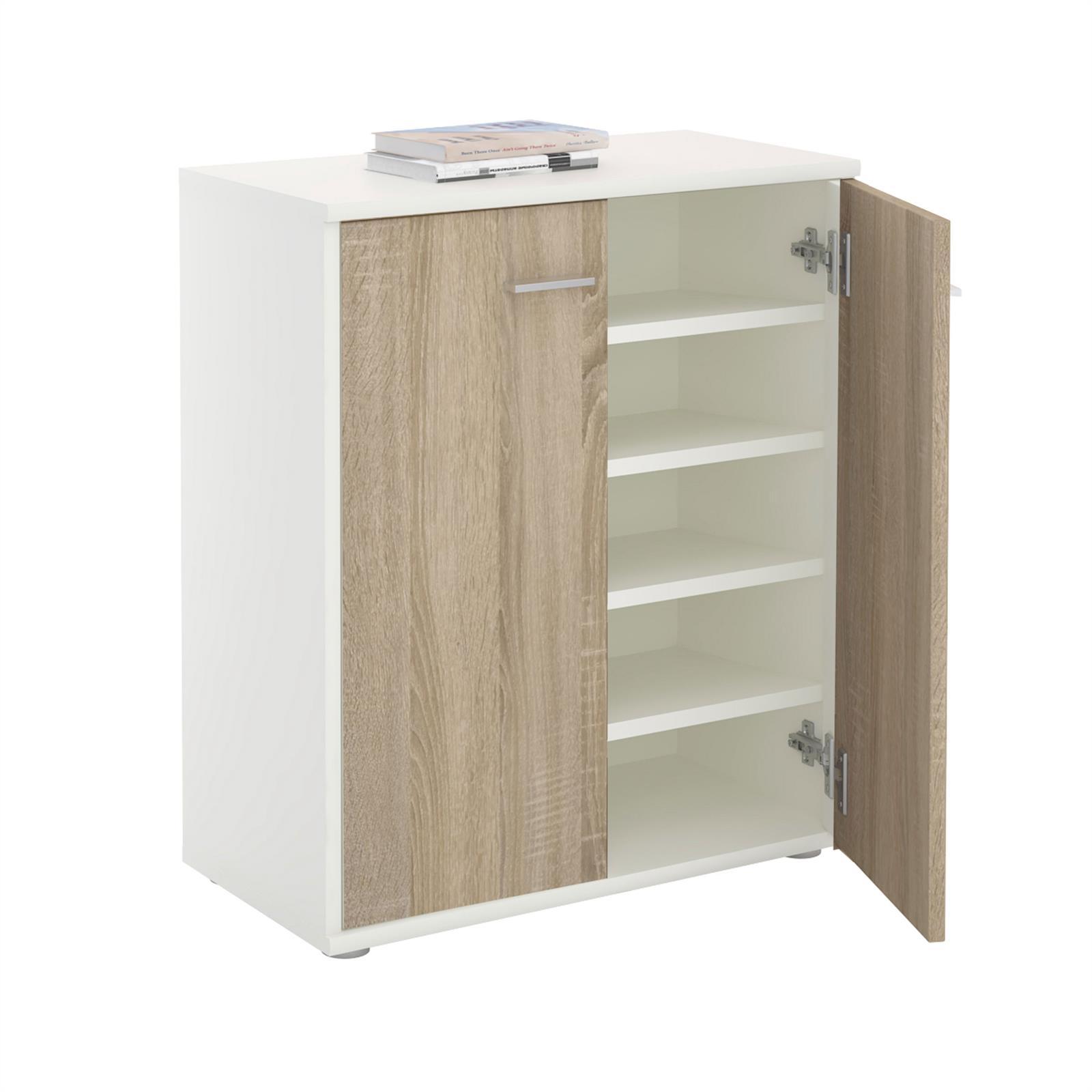 schuhschrank lennis 2 t ren in wei sonoma eiche caro m bel. Black Bedroom Furniture Sets. Home Design Ideas