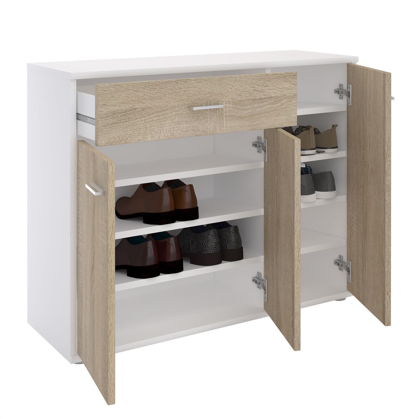 schuhschrank deusto in wei sonoma eiche caro m bel. Black Bedroom Furniture Sets. Home Design Ideas