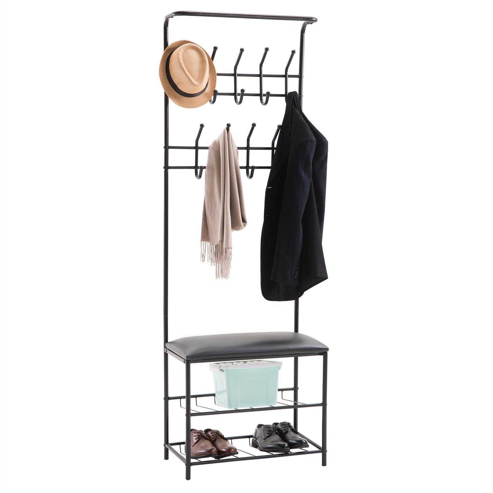 garderobe wardie mit schuhbank in schwarz lackiert caro. Black Bedroom Furniture Sets. Home Design Ideas
