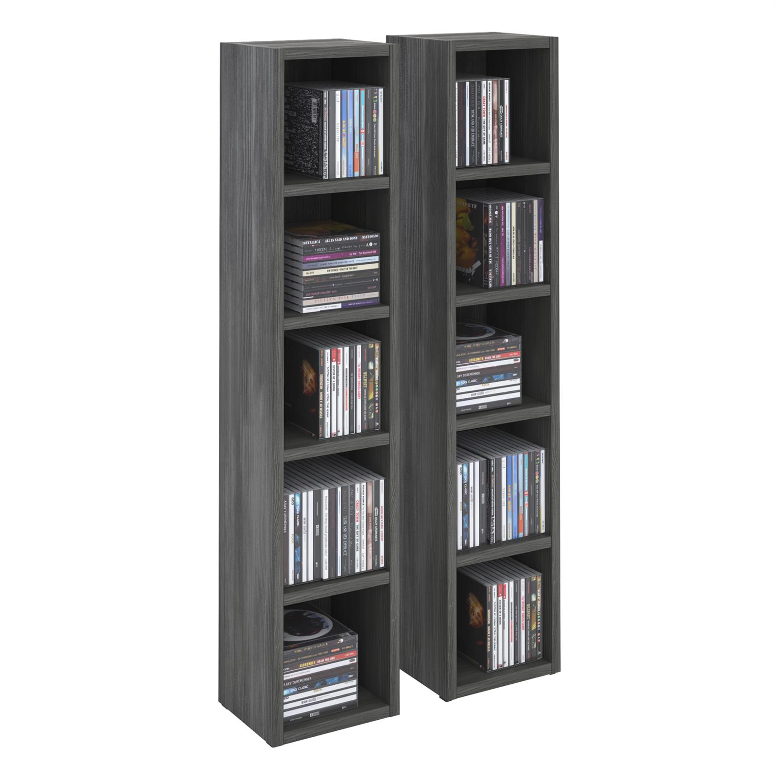 cd dvd regal chart mit 10 f chern in esche grau caro m bel. Black Bedroom Furniture Sets. Home Design Ideas
