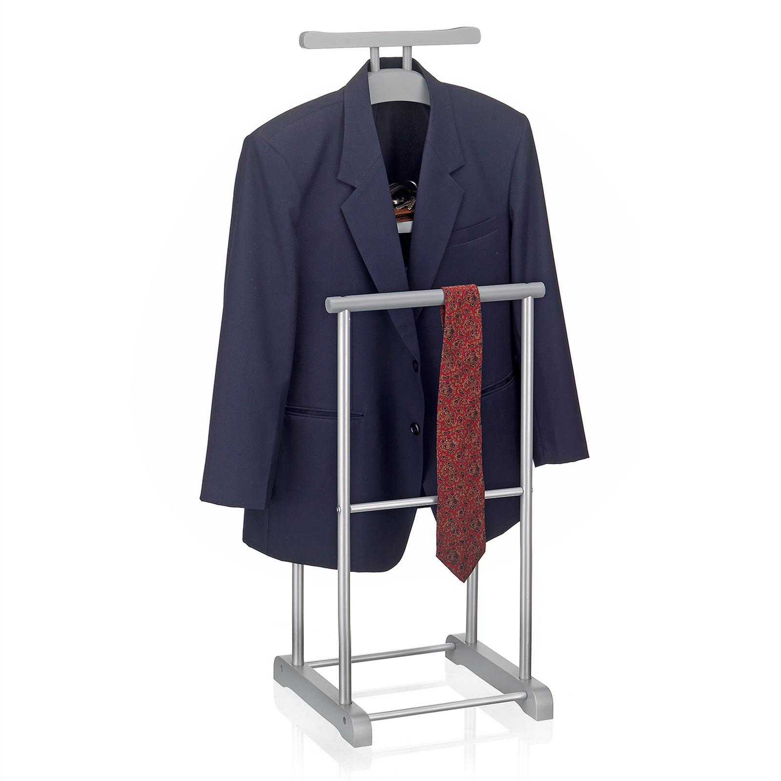 herrendiener kleider stange mit ablage kleiderst nder stummer diener butler ebay. Black Bedroom Furniture Sets. Home Design Ideas