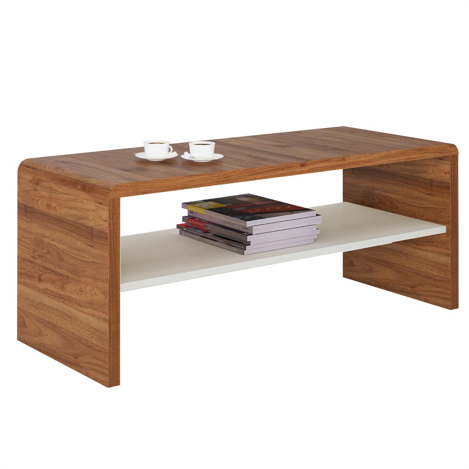 tv lowboard couchtisch lenni in nussbaum wei caro m bel. Black Bedroom Furniture Sets. Home Design Ideas
