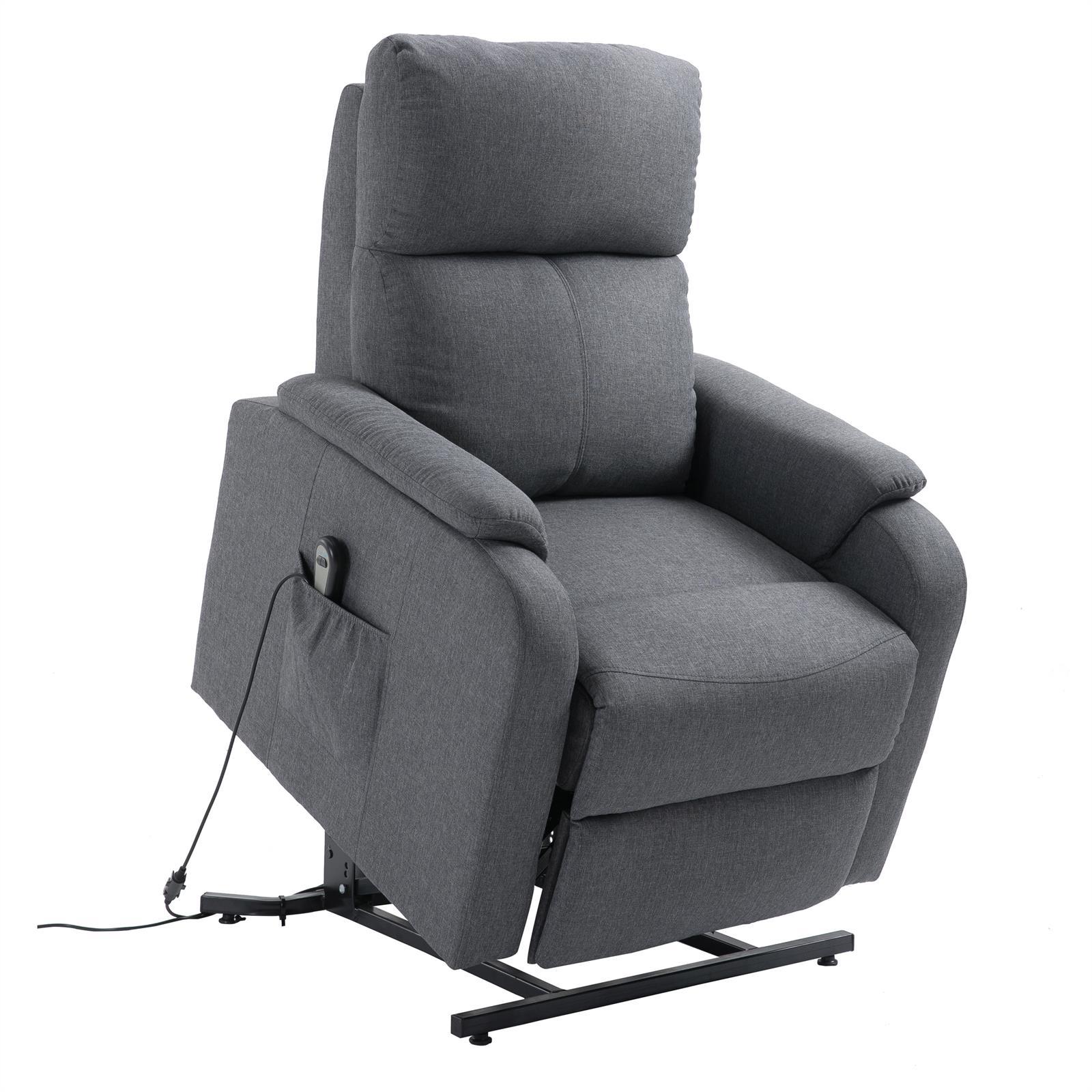 Fernsehsessel retire mit aufstehfunktion in grau caro m bel for Fernsehsessel mit stoffbezug