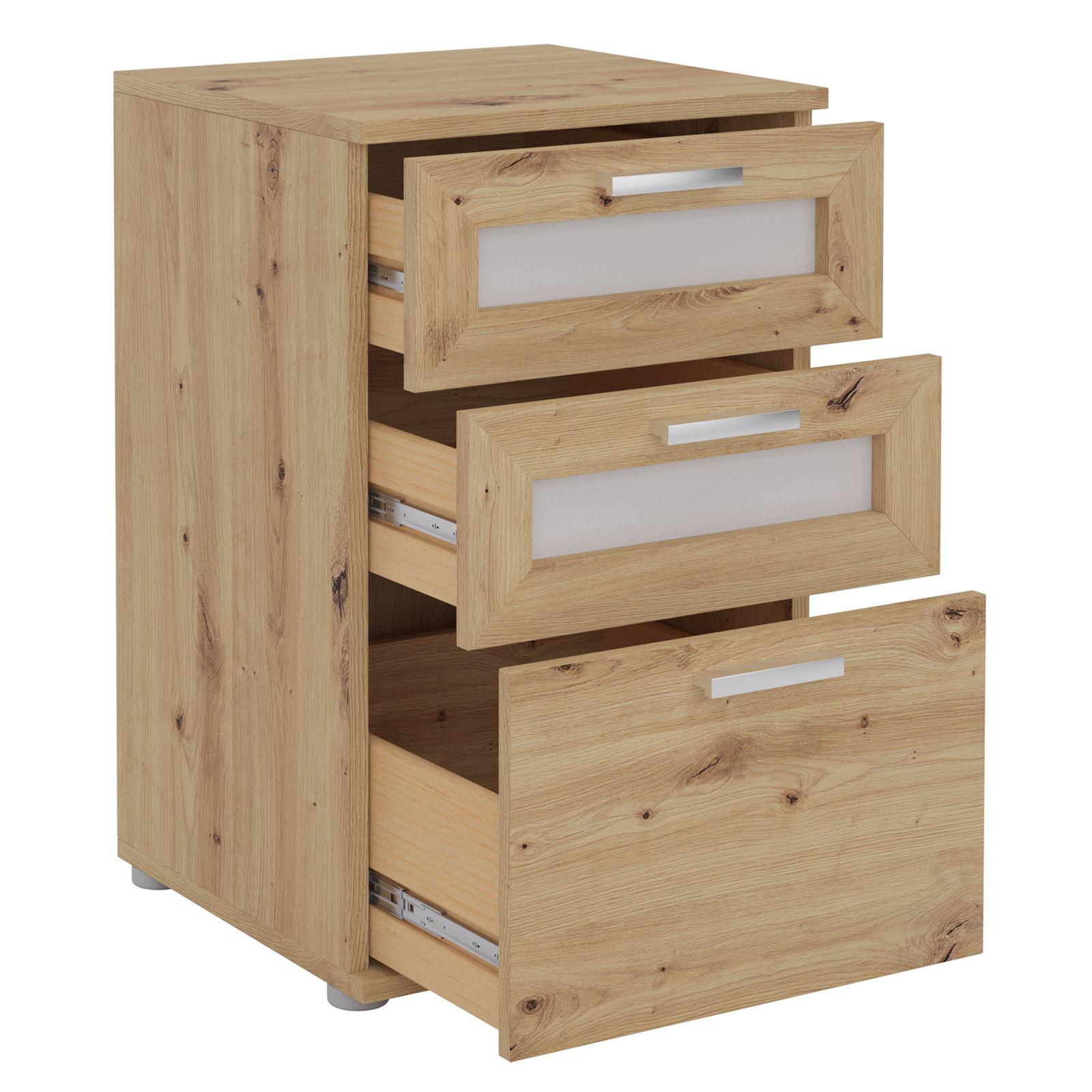 Indexbild 3 - Nachttisch Boxspringbett Nachtschrank Kommode Konsole Beistell 3 Schubladen
