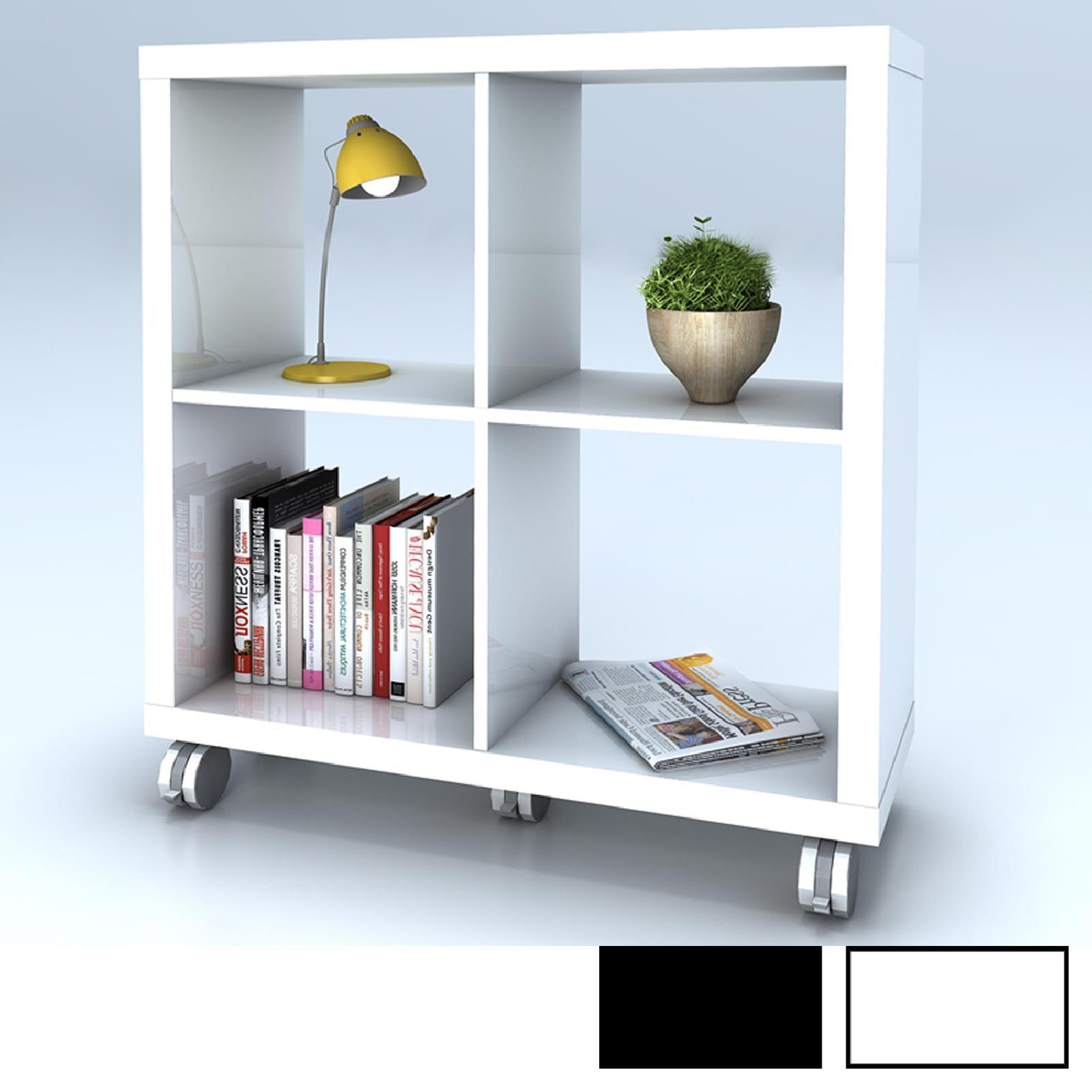 regal manuel in schwarz wei auf rollen caro m bel. Black Bedroom Furniture Sets. Home Design Ideas