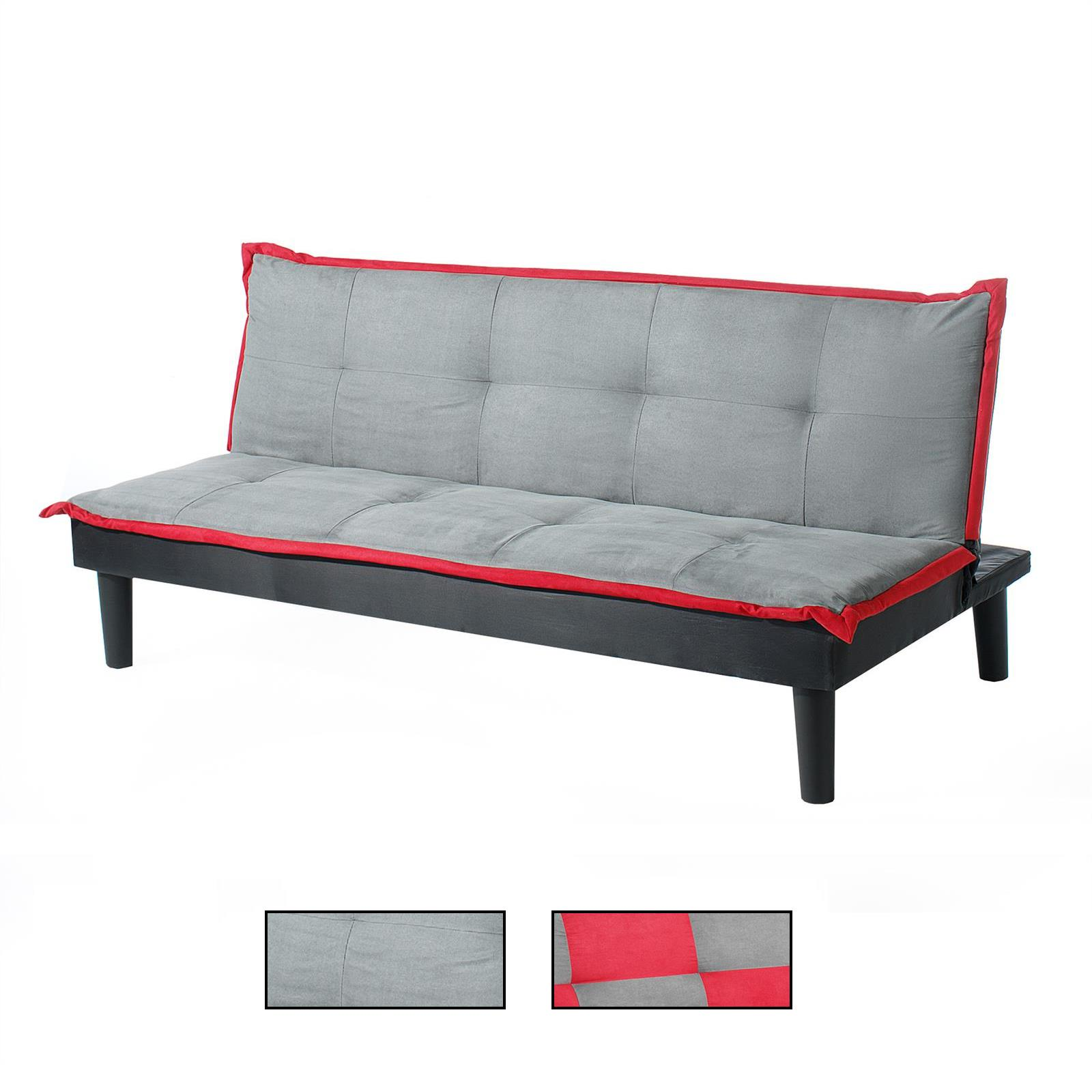 3 sitzer schlafsofa claudia in grau rot caro m bel. Black Bedroom Furniture Sets. Home Design Ideas