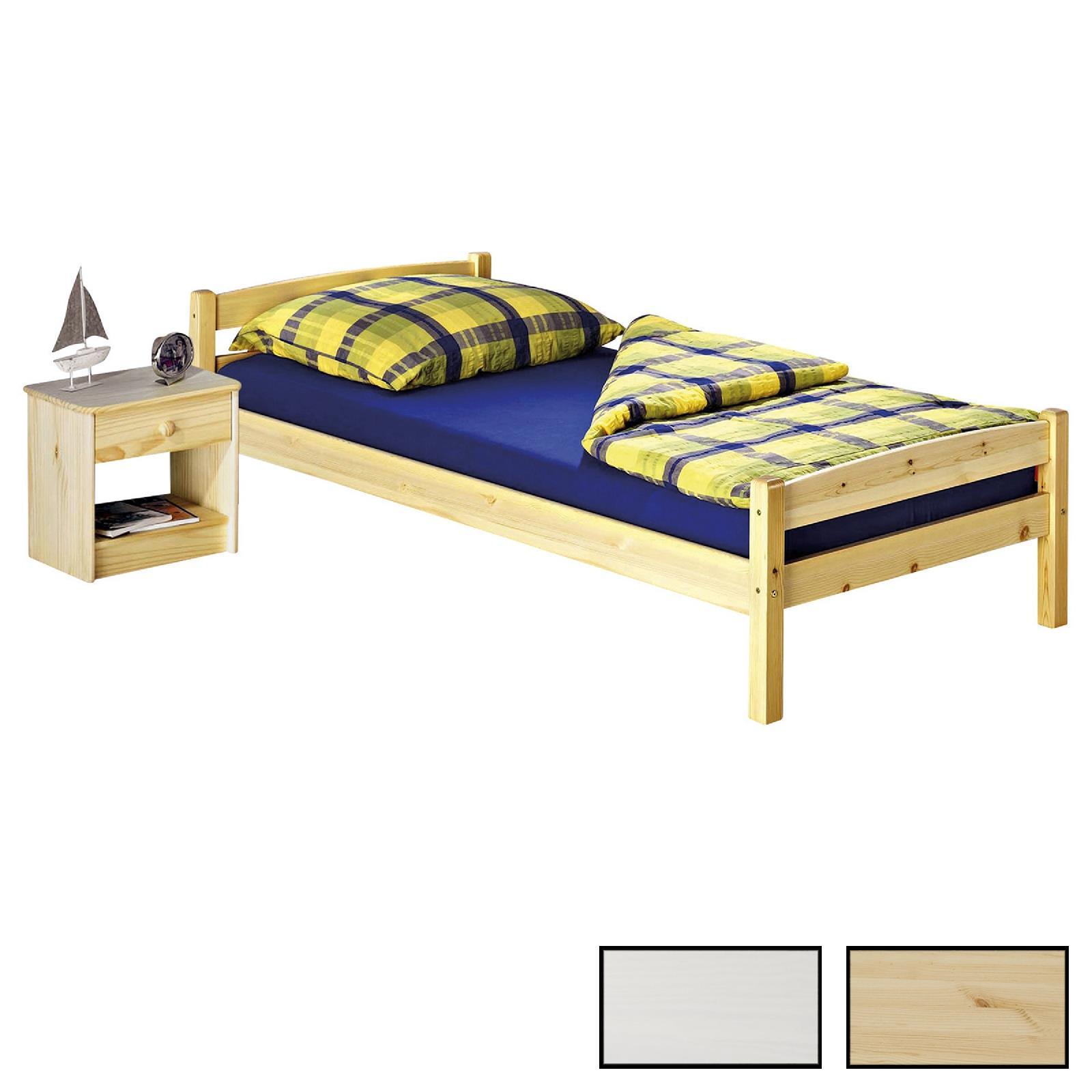 einzelbett kiefer massiv versch farben caro m bel. Black Bedroom Furniture Sets. Home Design Ideas