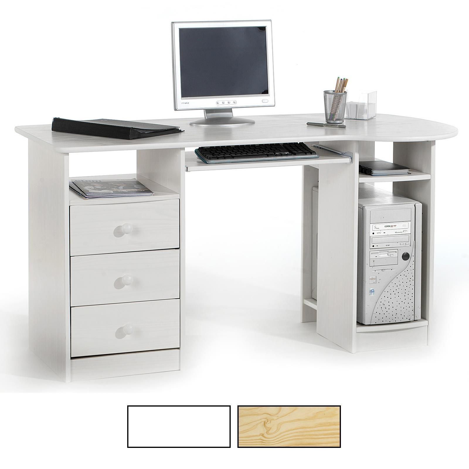 Schreibtisch in 2 farben kiefer massiv caro m bel for Schreibtisch in kiefer
