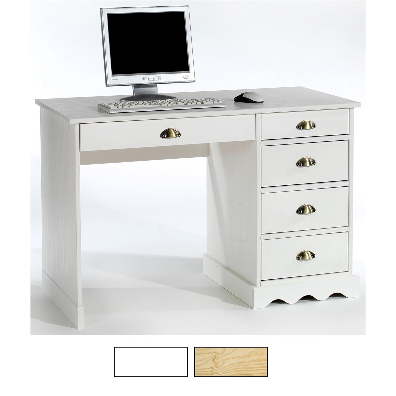 Schreibtisch kiefer massiv in 2 farben caro m bel for Schreibtisch in kiefer