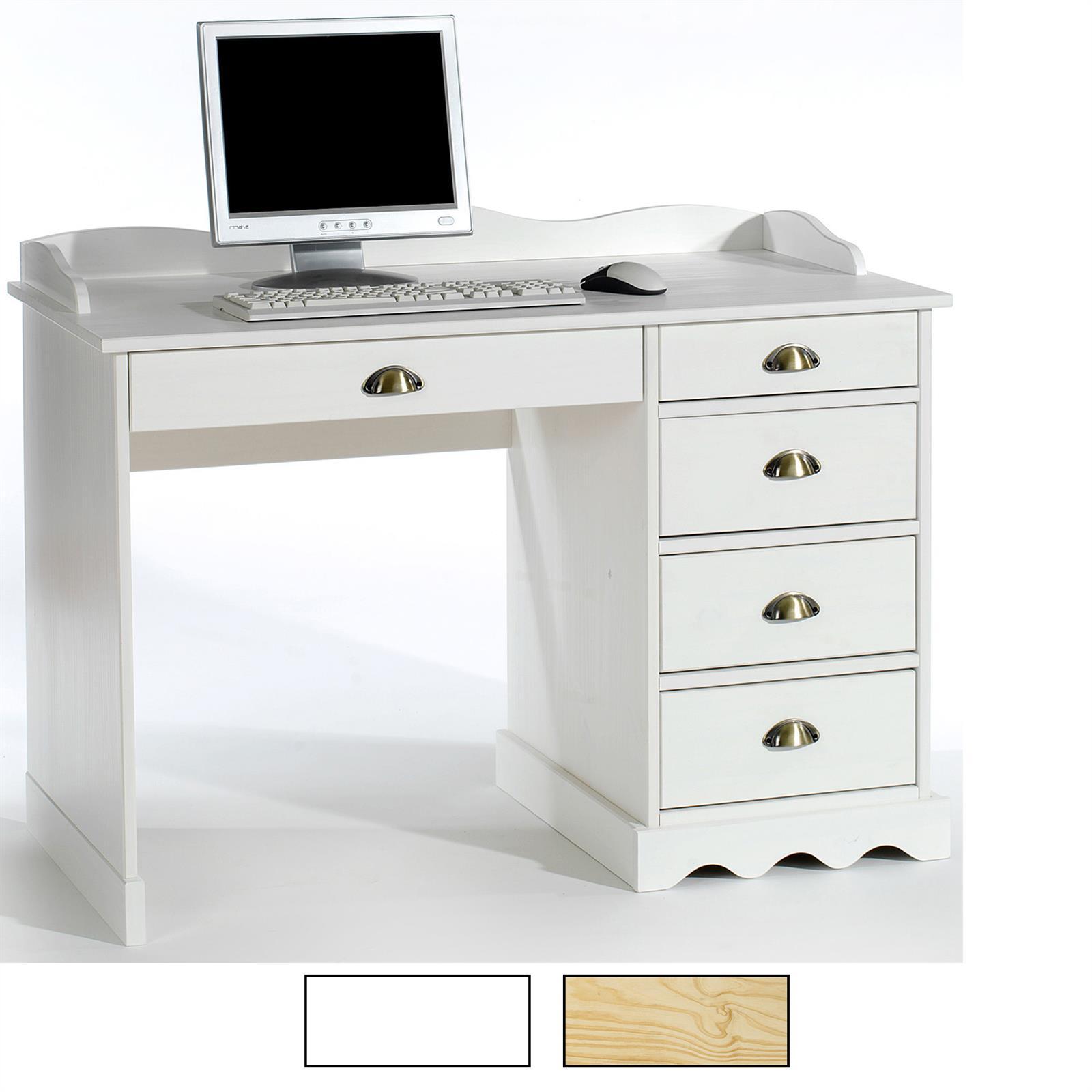 schreibtisch mit aufsatz in 2 farben caro m bel. Black Bedroom Furniture Sets. Home Design Ideas