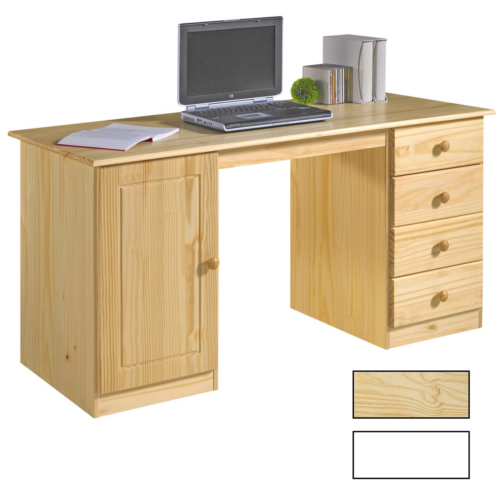 Schreibtisch in zwei farben kiefer massiv caro m bel for Schreibtisch in kiefer