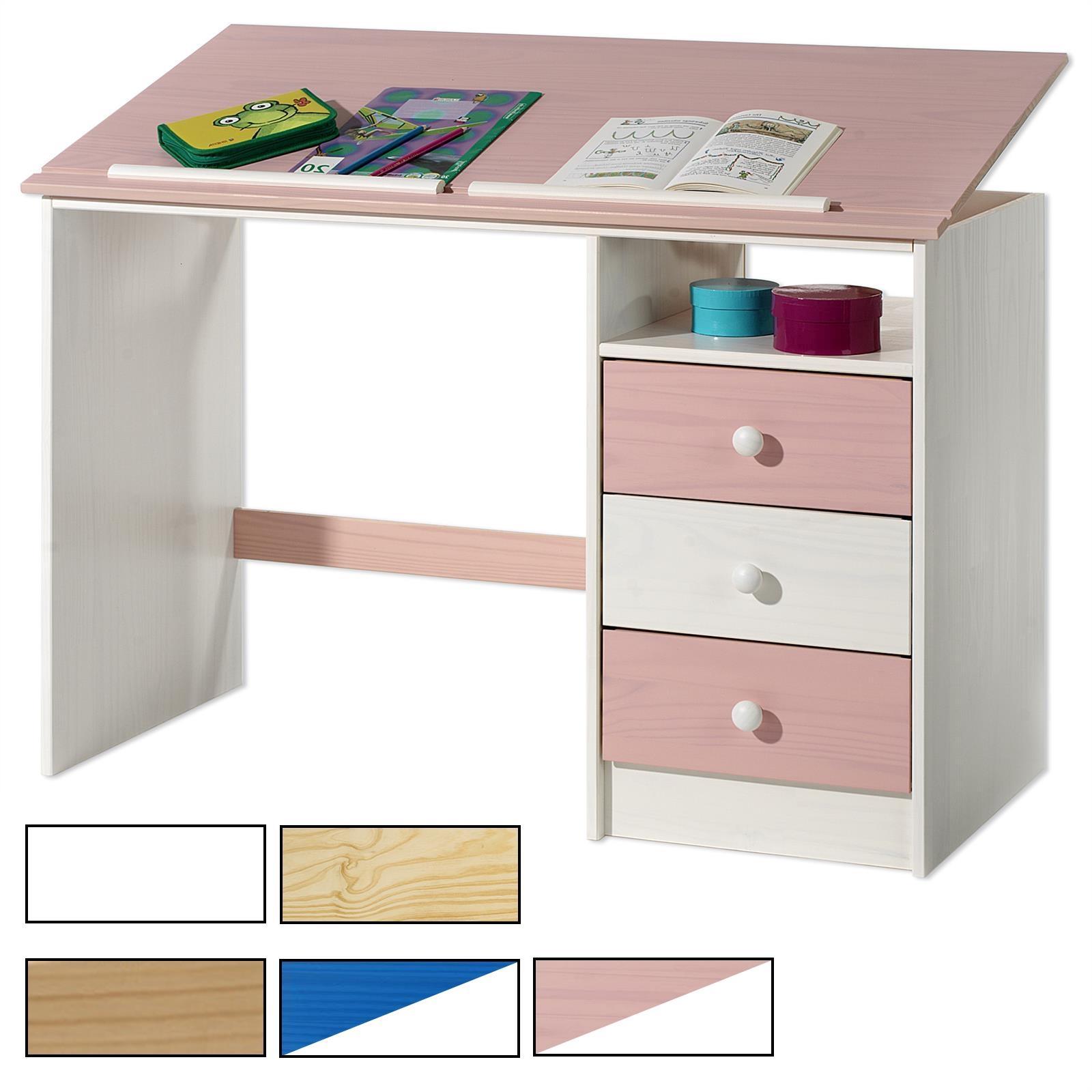 neigungsverstellbarer kinderschreibtisch flint in verschiedenen farben caro m bel. Black Bedroom Furniture Sets. Home Design Ideas