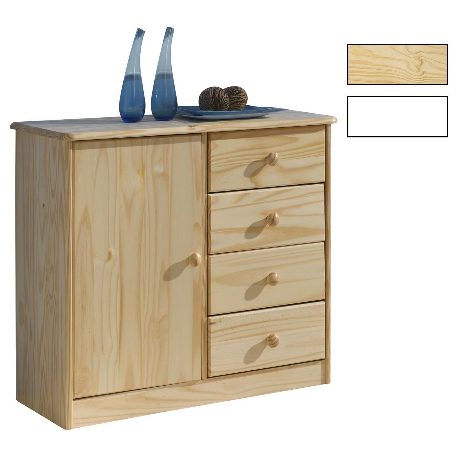 kommode kiefer massiv in natur oder wei caro m bel. Black Bedroom Furniture Sets. Home Design Ideas