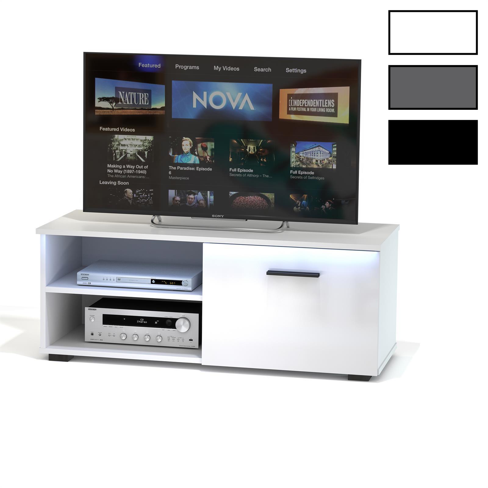 tv lowboard malibu mit led beleuchtung in 3 farben caro. Black Bedroom Furniture Sets. Home Design Ideas