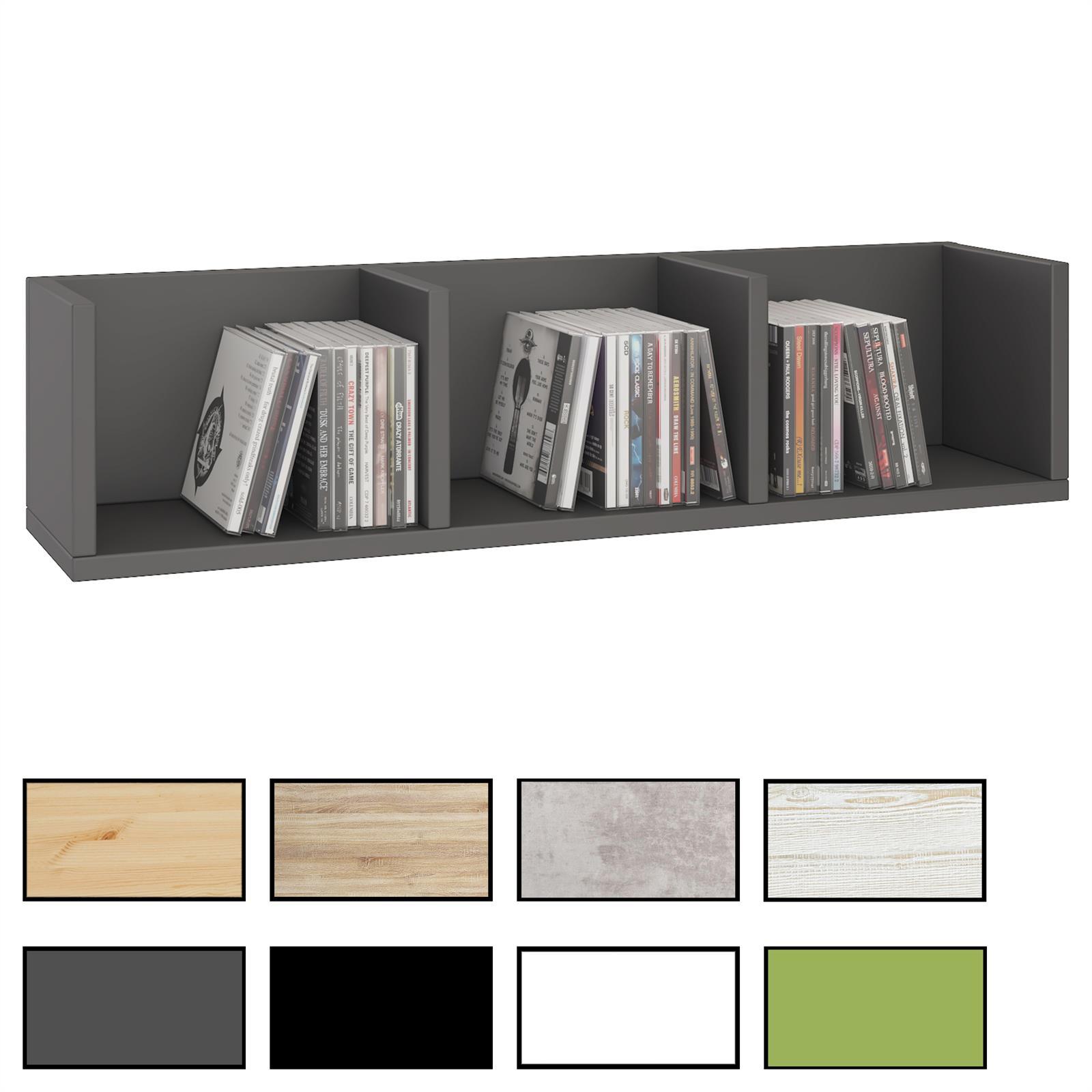 cd dvd regal stars mit 3 f chern in 7 farben caro m bel. Black Bedroom Furniture Sets. Home Design Ideas