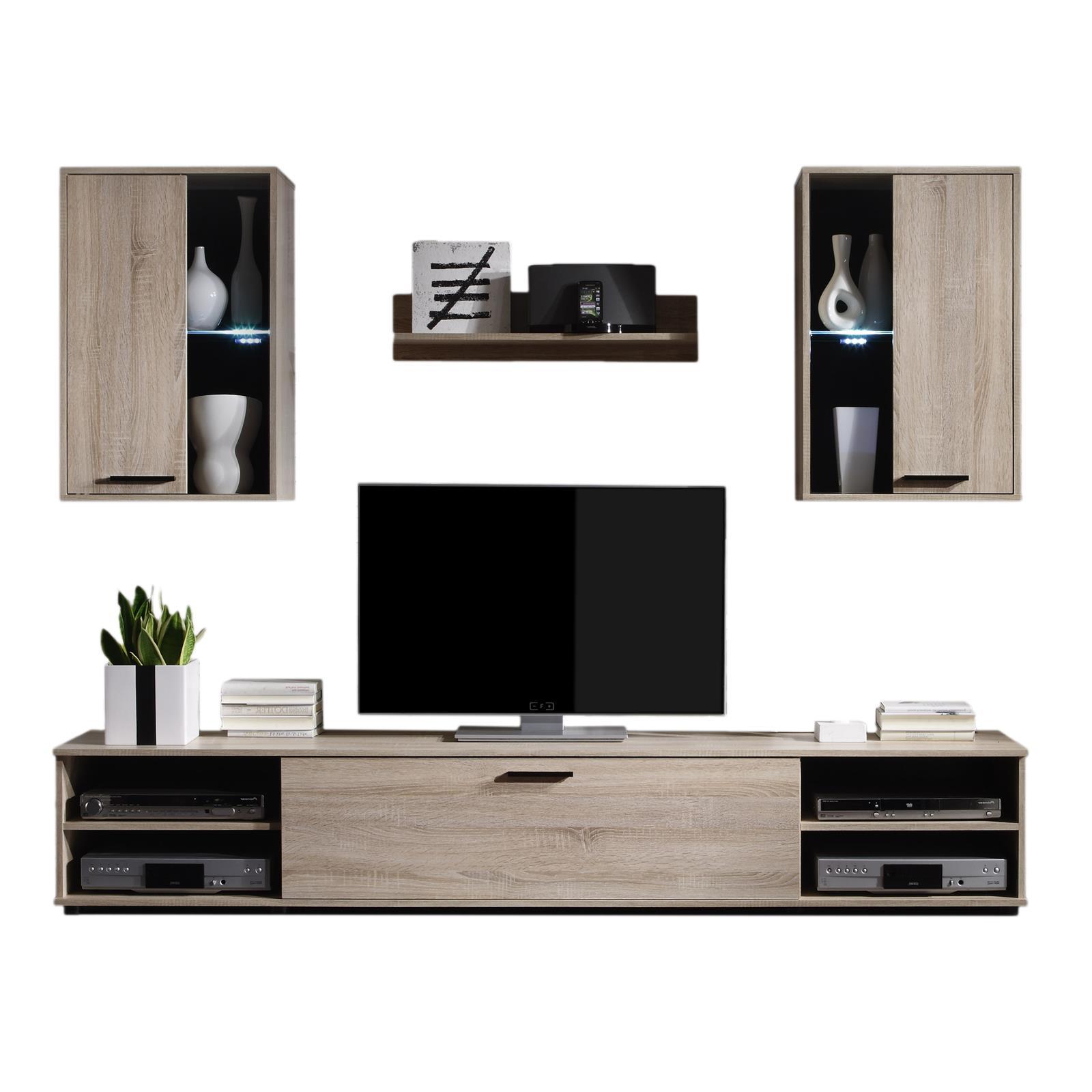 yarial = wohnwand boom kompakt led beleuchtung eiche, Gestaltungsideen