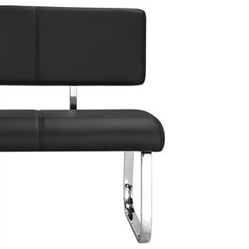 Esszimmerbank 3-Sitzer in schwarz