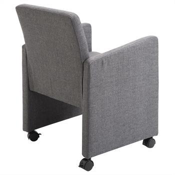 Sessel auf Rollen in grau