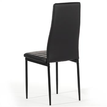 Hochlehner Polsterstuhl 4er Set, schwarz