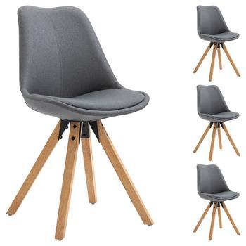 4er Set Esszimmerstühle im Skandinavischem Design