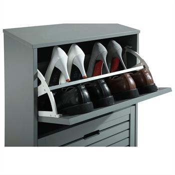 Schuhkipper im Landhaus-Stil in grau, 2 Kipper