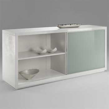 Sideboard SIDNEY in Kroko-Optik/weiß
