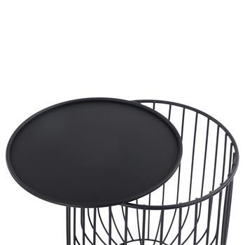 Couchtisch in schwarz mit Stauraum
