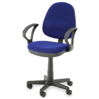 Bürodrehstuhl, höhenverstellbar, blau