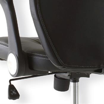 Bürodrehstuhl mit Kopfstütze, schwarz