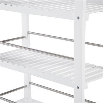 Küchenwagen aus Bambus in weiß