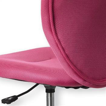 Kinderdrehstuhl in Pink, atmungsaktiver Netzbezug