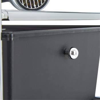 Rollcontainer GINA, 3 Schubladen & 2 Böden in schwarz
