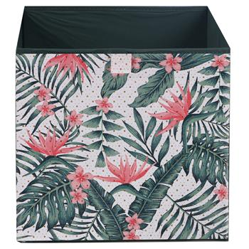 Stoffbox 2er Pack faltbar mit Dschungel-Motiv