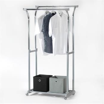 Garderobenwagen, höhenverstellbar, silber