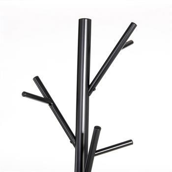 Kleiderständer in schwarz mit 12 Haken