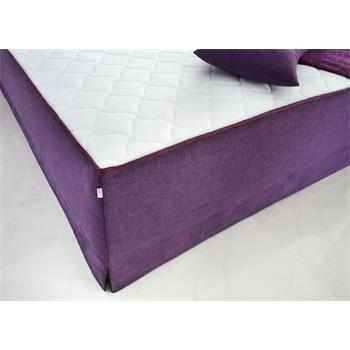Boxspringbett Set ALICE in Leinen-Optik, lila