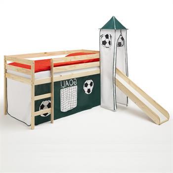 Rutschbett mit Turm und Fußball Vorhang