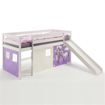 Spielbett mit Rutsche, Vorhang Prinzessin