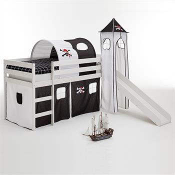 Rutschbett mit Tunnel, Turm, Vorhang Pirat