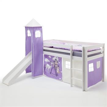Rutschbett mit Vorhang & Turm Prinzessin