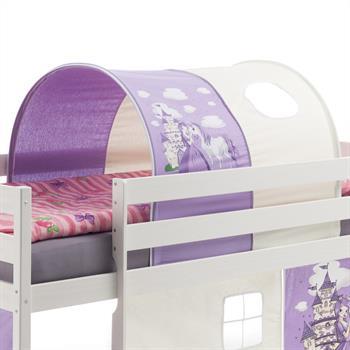 Tunnel fürs Spielbett in lila-weiß
