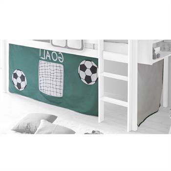 Vorhang fürs Spielbett mit Fußball Motiv