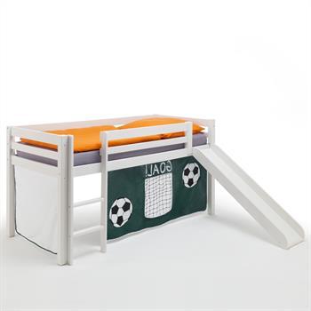 Rutschbett in weiß mit Fußballvorhang