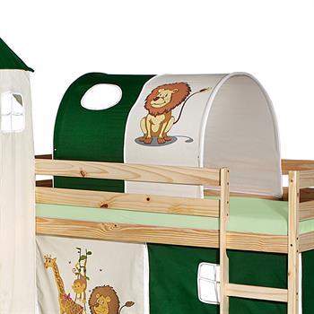 Tunnel für Spielbett  in grün/beige