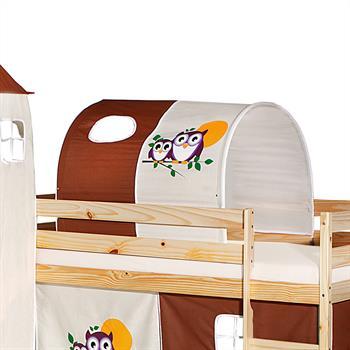 Tunnel für Spielbett  in braun/beige