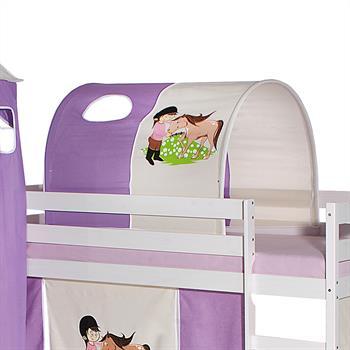 Tunnel für Spielbett in lila/beige