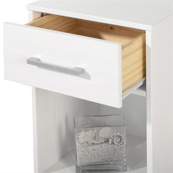 Nachttisch HUGO Kiefer massiv in weiß