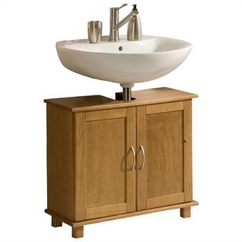 Waschbeckenunterschrank UDO Kiefer, gebeizt