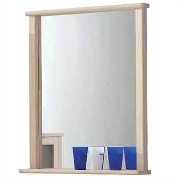 Wandspiegel mit Ablage, weiß gekälkt
