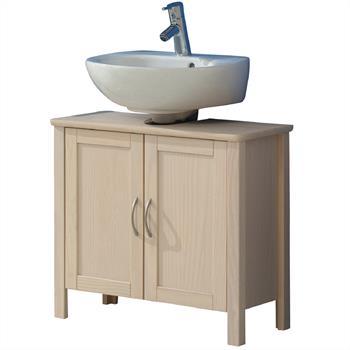 Waschbeckenunterschrank, Kiefer, weiß
